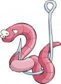 worm on hook